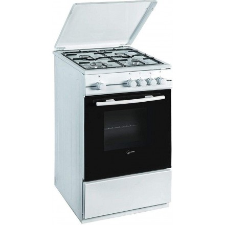 Cucina Atlantic ATMC55 4 Fuochi 50x50 Forno Elettrico Bianca