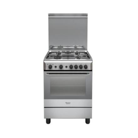 Cucina a Gas Hotpoint Ariston H6GG1F(X) 60x60 4 Fuochi