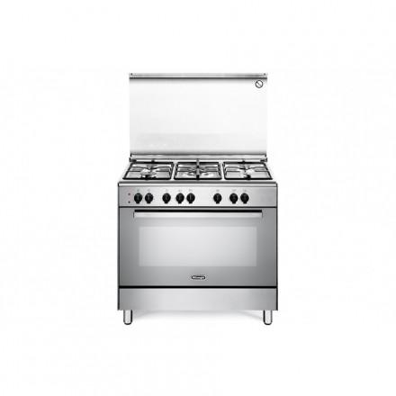 Cucina a Gas De Longhi DEMX96 90x60 5 Fuochi con Forno Inox