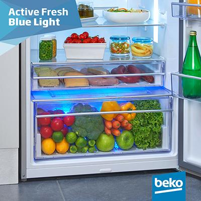 frigorifero beko gn1416232zx a libera installazione active fresh blu light