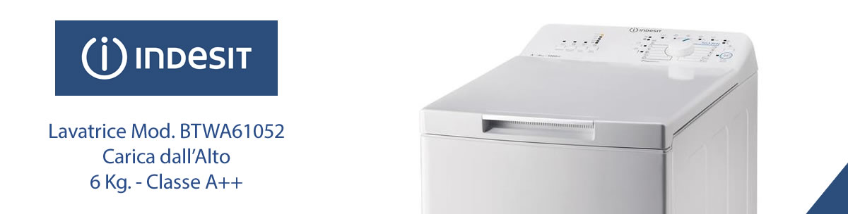 lavatrice indesit BTWA61052 a libera installazione banner