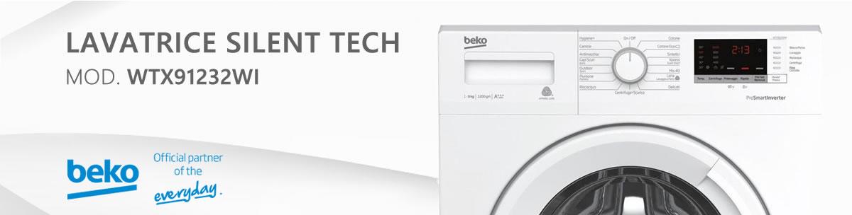 banner lavatrice beko wtx91232wi a libera installazione