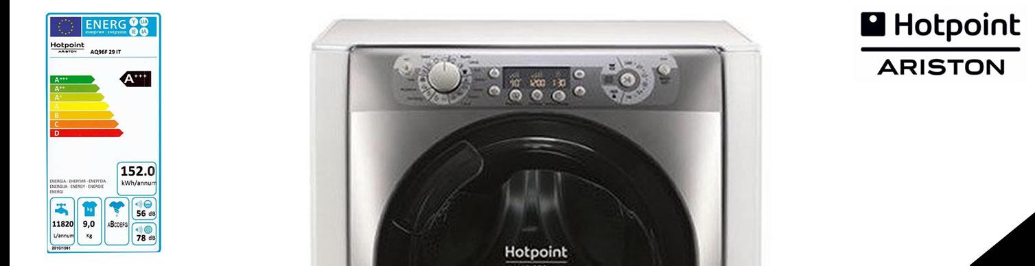 banner lavatrice hotpoint ariston aq96f29