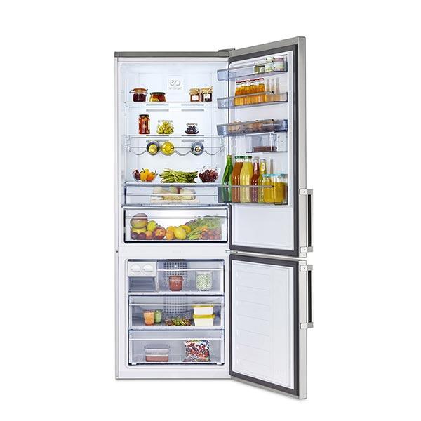 frigorifero beko RCNE520E20DS a libera installazione aperto