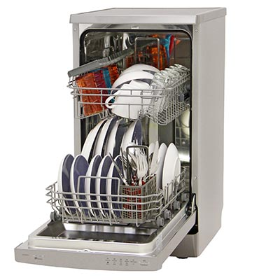 lavastoviglie candy cdp2l1047x-01 aperta